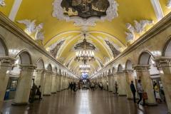 Komsomolskaya, Metro, Moskau
